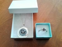 TRINITY KNOT LOCKET NECKLACE & TOPAZ RING 8 SET Montreal
