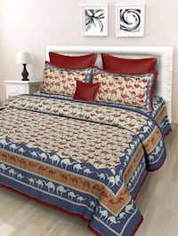 100% pure cotton king size bedsheet with 2 pillow  New Delhi, 110045