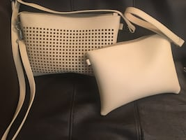 Cream brand new purse two in one