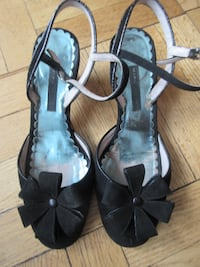Marc Jacobs open-toe ankle strap heels New York