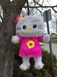 White and pink hello kitty plush toy Brampton, L6Z 1E6