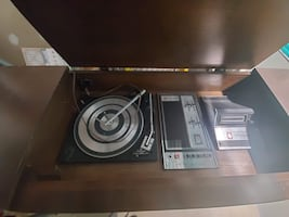 vintage console record player