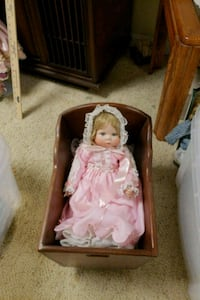 Porcelain doll with cradle PG Hagerstown, 21740