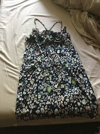 black and white floral spaghetti strap dress Toronto, M6R 1Z8