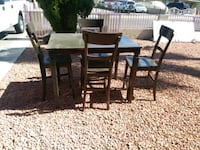 rectangular brown wooden table with six chairs dining set Phoenix, 85009