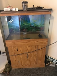 brown wooden framed fish tank Winchester, 22601