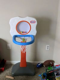 white and blue Little Tikes basketball hoop Allen, 75013