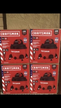BRAND NEW FACTORY SEALED SHOP VAC CRAFTSMAN 16 GALLON 5 HP WET DRY SHOP VACUUM BLOWER MADE IN USA FIRM $85 EACH Fontana, 92337