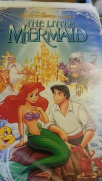 The little mermaid 1990 vhs limited,rare cover Greenfield, 38230