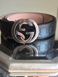 black leather Gucci belt with silver buckle Germantown, 20876