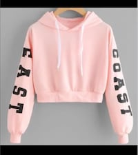 Pink and white pullover cropped hoodie Markham, L6E 2E3