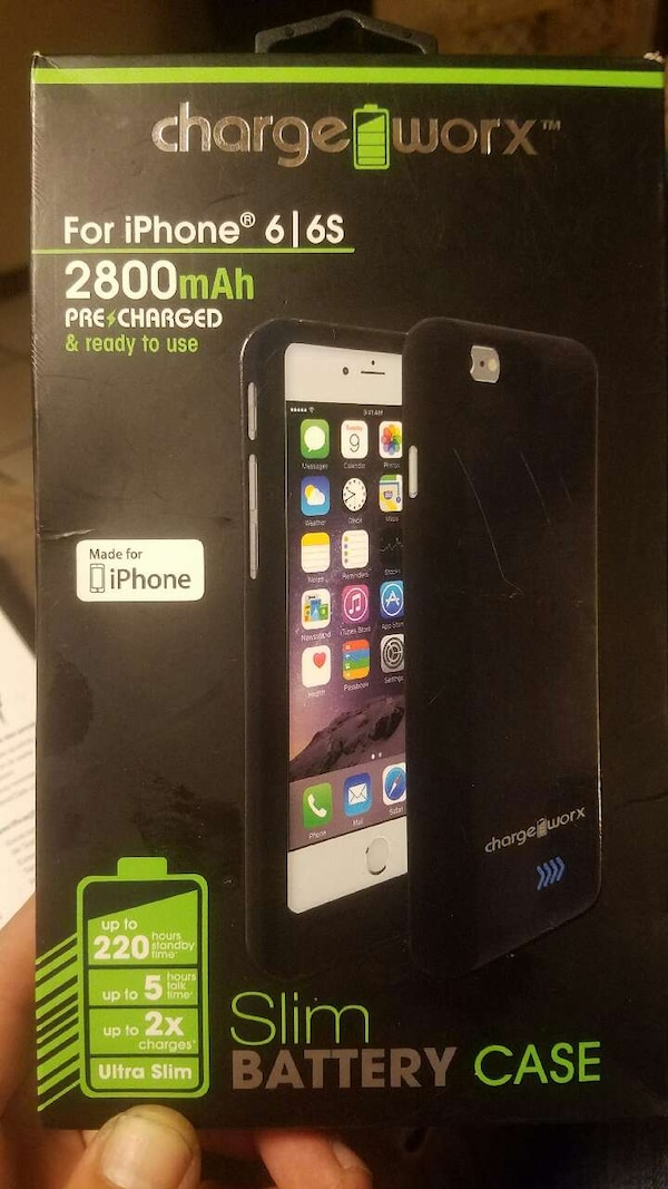 the latest 0a4f9 d8079 Used charge worx for iphone 6 and 6s slim battery case for sale in ...