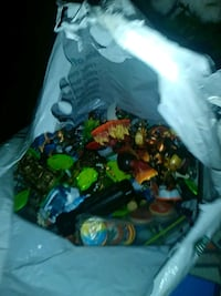 assorted color plastic toy lot