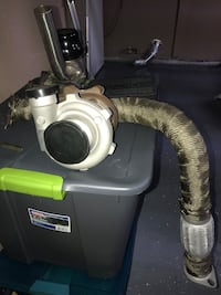 Turbo, manifold, down pipe, and waste. B series