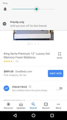 Serta King Size Mattress on the Go
