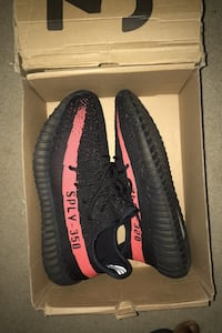 350 yeezy boost black solar red 1:1 replicas Size 11 :)