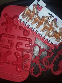 Wilton Cookie Cutter and Large silicone molds  $10 Edmonton