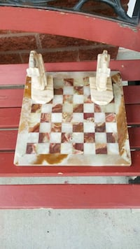 White and Brown Marble Chess Board Toronto, M9N 3X8