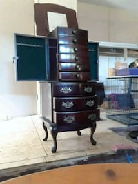 black wooden dresser with mirror Port Richey, 34668