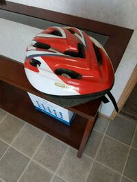 red and white bicycle helmet Edmonton, T6P 0A4