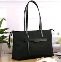 black leather tote bag with tassel Henderson, 89014
