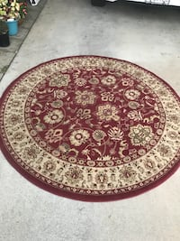 Circle Rug Made in Turkey.                 63 inches Around