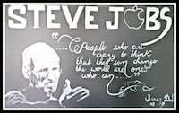 Steve Jobs quote signage