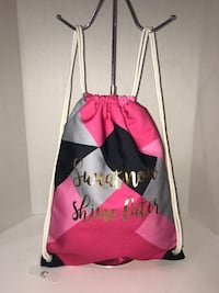 """NWT """"Sweat now, Shine later"""" Drawstring Backpack Milton, L9T 4K1"""
