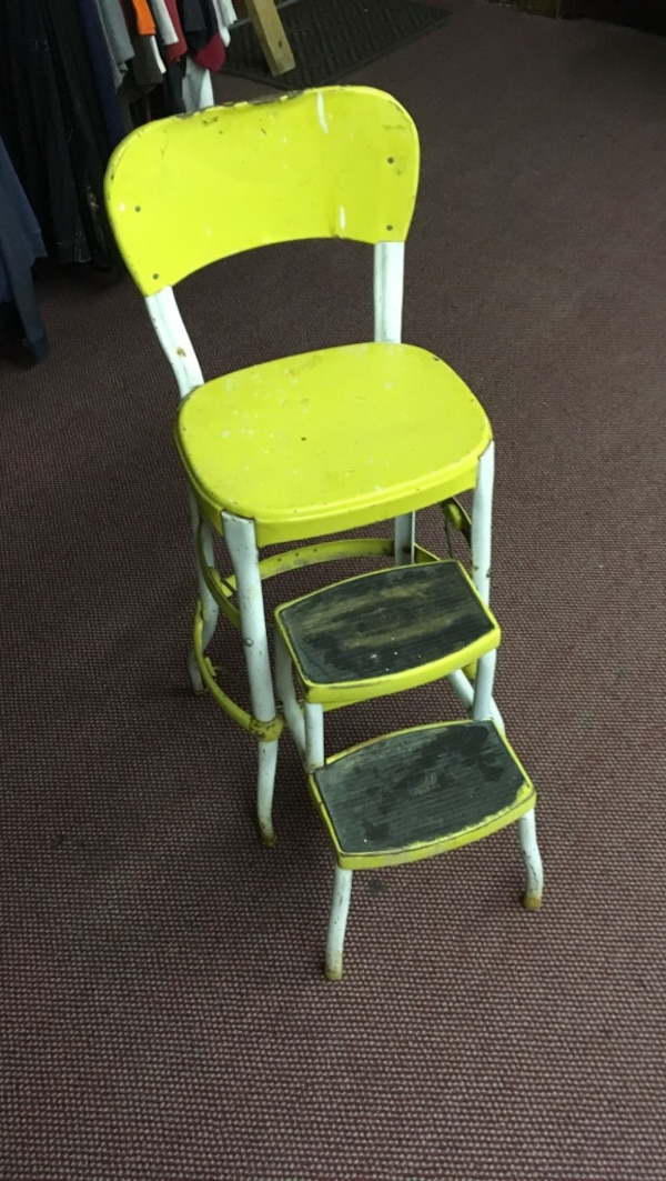 Astounding Cosco Vintage Yellow Kitchen Step Stool Ocoug Best Dining Table And Chair Ideas Images Ocougorg