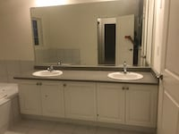 85inch, Double sink vanity, with mirror, sinks, foists Brampton, L6V