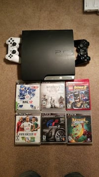 black Sony PS3 slim console with controllers and g Edmonton, T6H