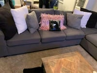 Dark Grey Sectional Couch  Johns Creek