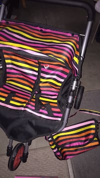 black and multicolored jogging stroller Los Angeles, 91325