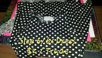 black and white polka dot print dress 6/6x Upland, 46989