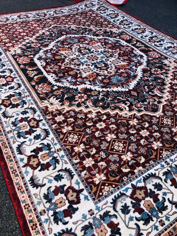 NEW Silk rug Large size 8x10 Nice red carpet Persian Kashaan design 98147485-90a2-41b5-9602-6e20400e5f40