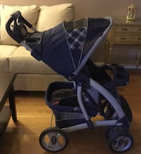 baby's blue and black stroller Mississauga, L5B 4B2