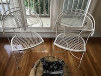 White Wrought Iron Chairs Los Angeles, 90036