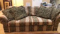 brown and gray floral fabric loveseat Upper Marlboro, 20774