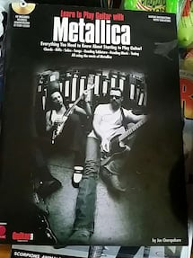 Learn to PLay guitar with Metallica book