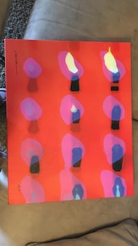 Lighted candles painting