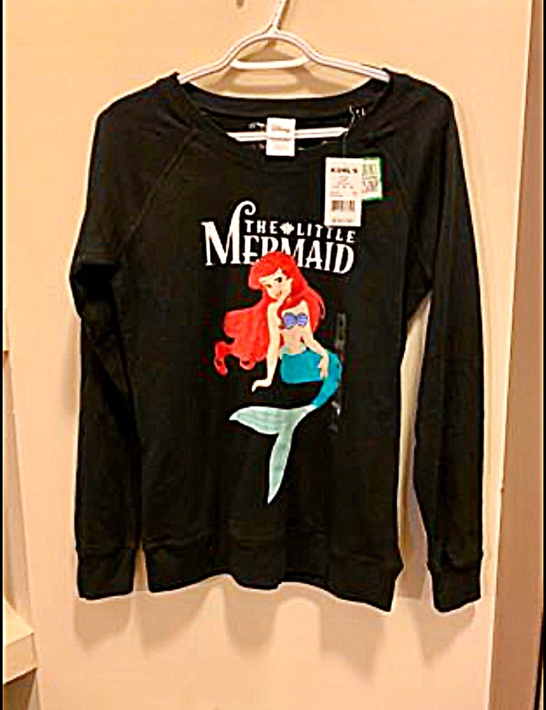 Photo NEW W/ TAGS! DISNEY The Little Mermaid Reversible Long Sleeve T!