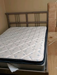 Full size frame and mattress.