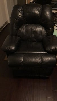 black leather recliner sofa chair 10 mi