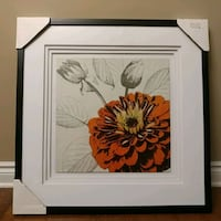 New! Orange flower framed picture Ottawa, K2K 2S3