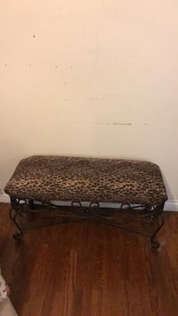 brown and black leopard print bench ottoman 2275 mi