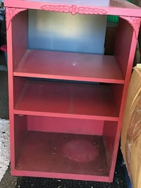 red wooden 3-layer shelf Ottawa, K2M 1A8