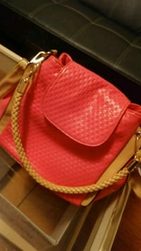 Brand new red leather bag Toronto, M1S 4G2