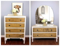 Refinished Antique Dresser / Vanity Set $395 EACH 3166 km
