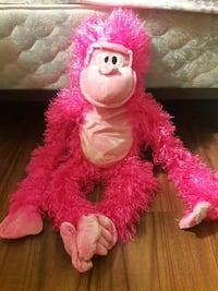 Pink and light pink monkey plush toy Tampa