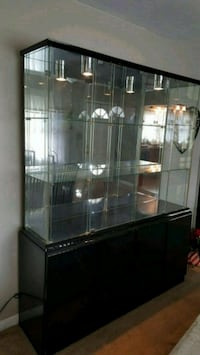 black metal framed glass display cabinet Mastic, 11950